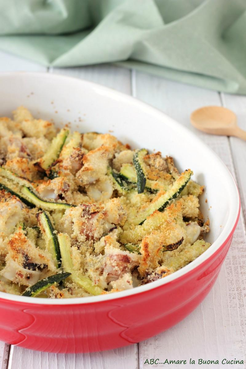 calamari e zucchine al forno 2