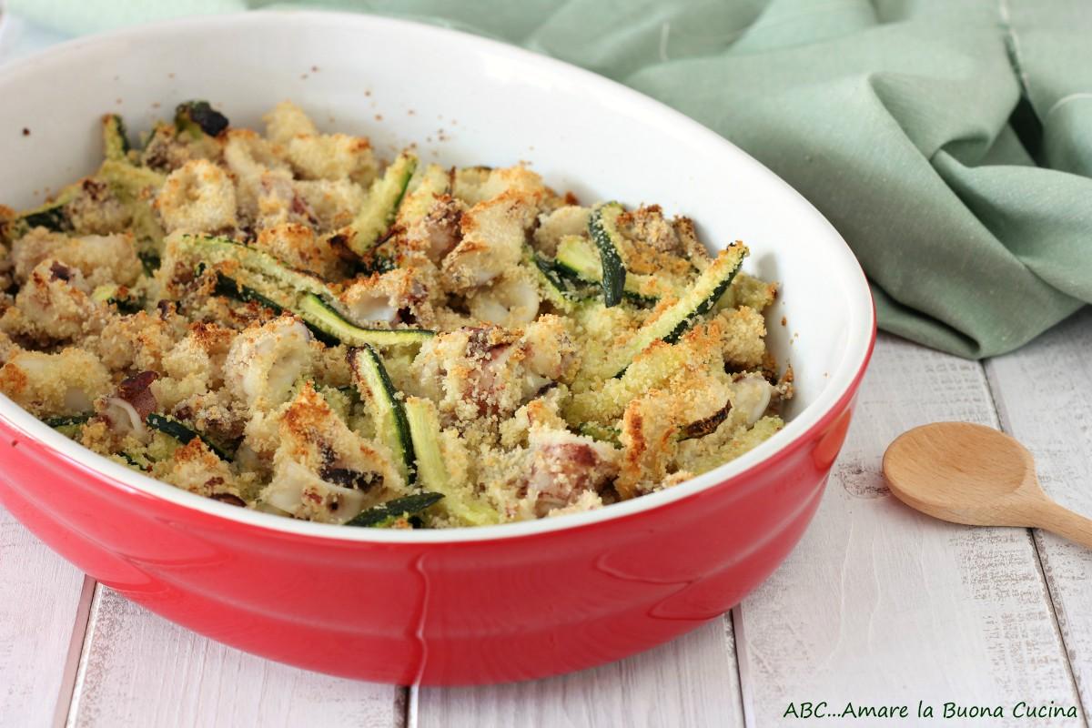 calamari e zucchine al forno