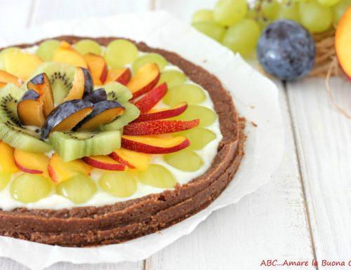 Crostata senza cottura con crema di ricotta e frutta