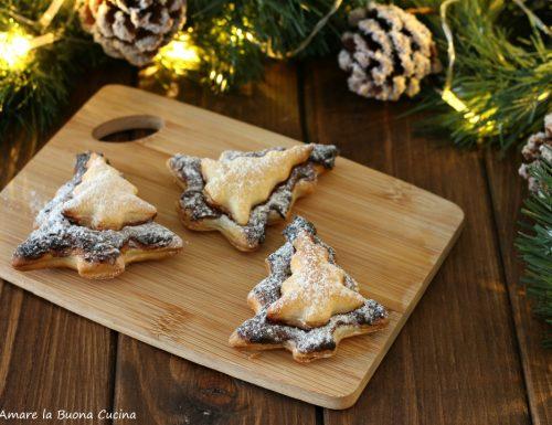 Alberelli di Natale con pasta sfoglia