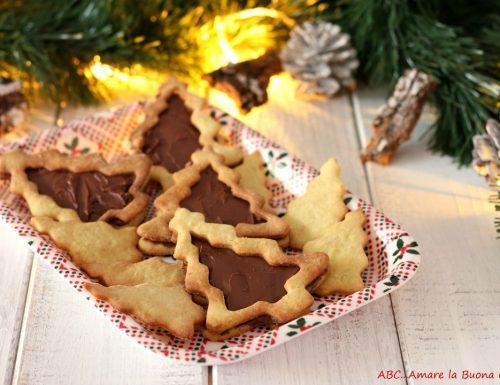 Alberelli di biscotti con pistacchio e Nutella