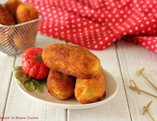 Crocchette di patate con mortadella e scamorza
