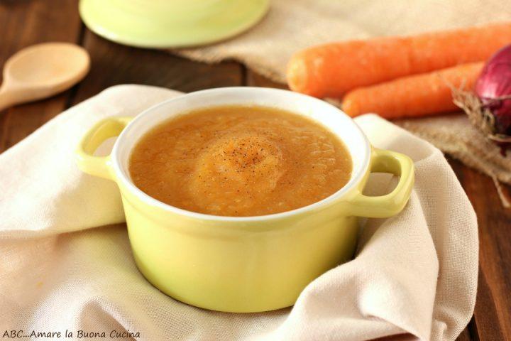 vellutata di finocchi e carote