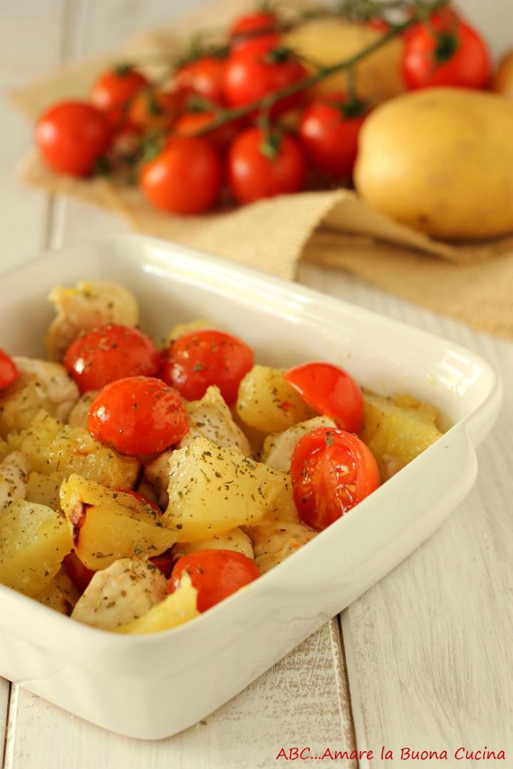 bocconcini di pollo al forno con patate 2