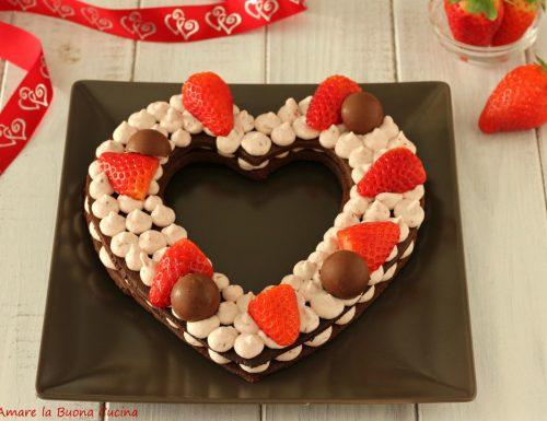 Cream tarte al cacao con fragole
