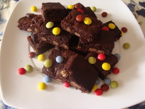 brownies agli smarties