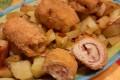 Involtini di pollo farciti ed impanati al forno