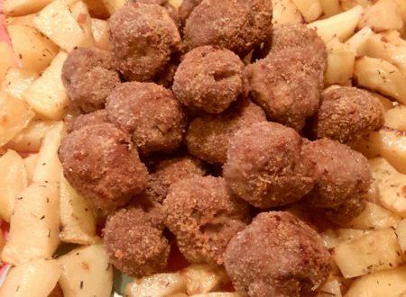 Polpettine di carne con patate al forno