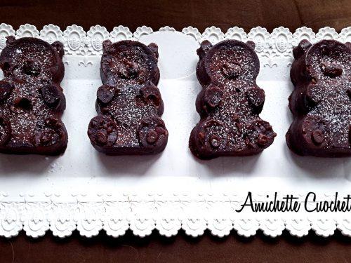 Orsetti al cioccolato pronti in 5 minuti
