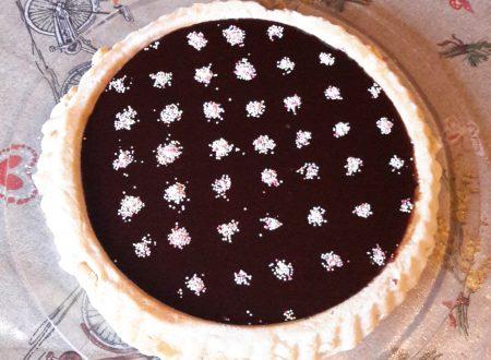 Focaccia dolce con glassa al cioccolato