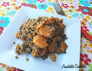 Lenticchie stufate con carote