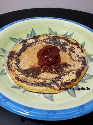 Pancake con farina di ceci e arance