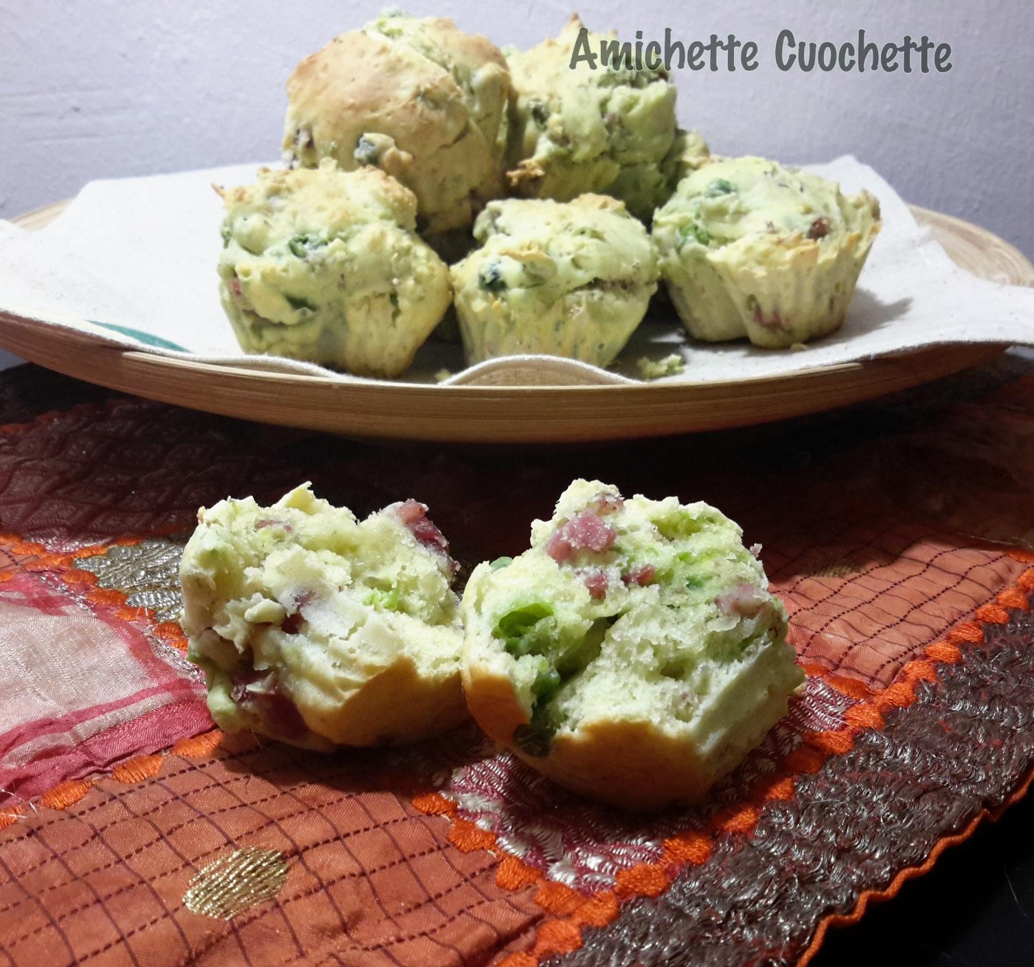 Muffin prosciutto e piselli