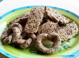 snack con farina di fagioli,mandorle e semi di lino