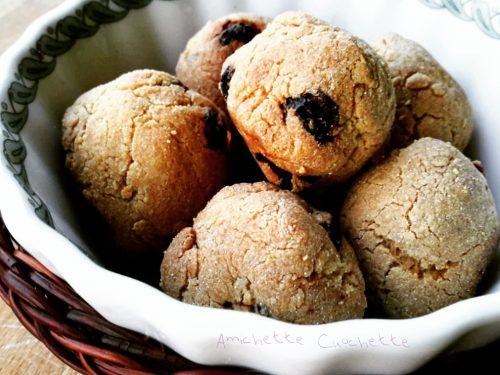 Dolcetti con farina di amaranto, mandorle ed uvetta