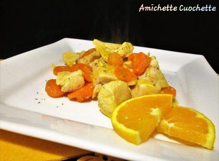 Bocconcini di pollo con arancia e carote