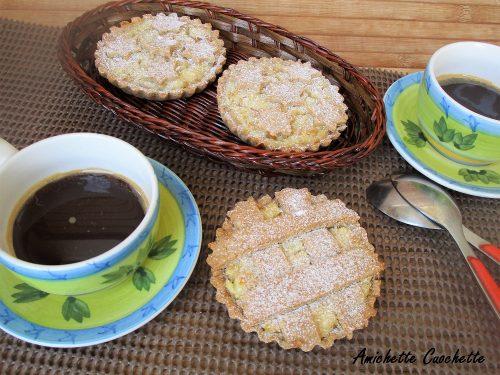 Crostatine con ricotta e grano bimby