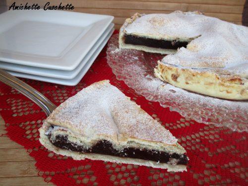 Torta con crema al cacao bimby