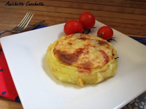 Tortini di patate con pancetta e scamorza bimby