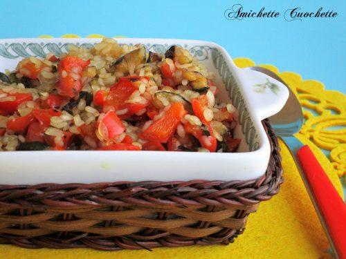 Risino di konjac con zucchine e peperoni