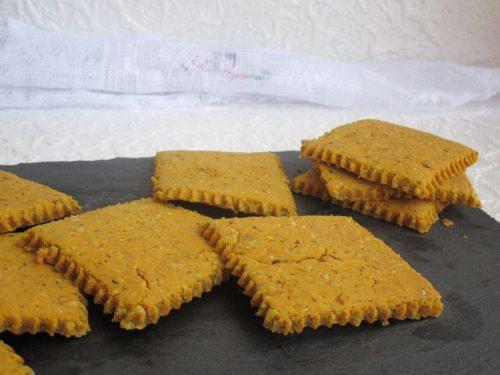 Creckers con farina di lupini e nocciole bimby