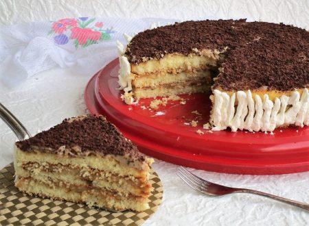 Torta con crema al caffè bimby