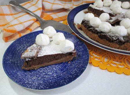 Cheescake con ricotta e cioccolato