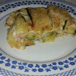 Sformato di zucchine con  prosciutto, pancetta e mozzarella