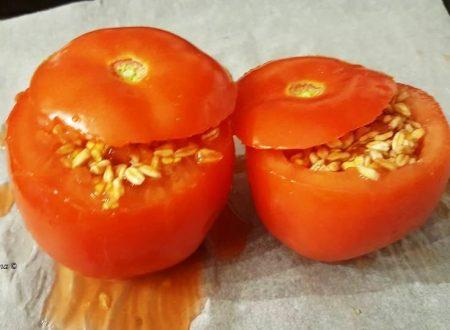 Pomodori ripieni con farro ed origano – Elisa