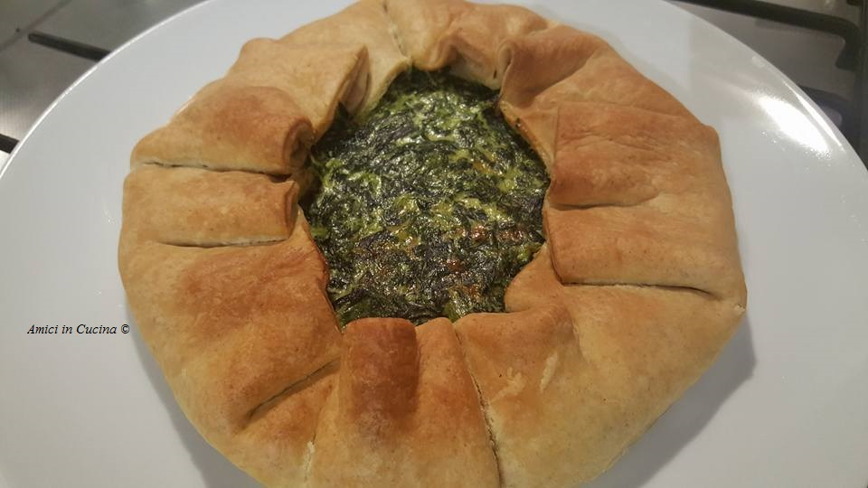 Torta Salata con spinaci, prosciutto crudo e Philadelphia light - Elisa
