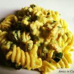 Fusilloni zucchine, pancetta, panna e zafferano – Ivana R.