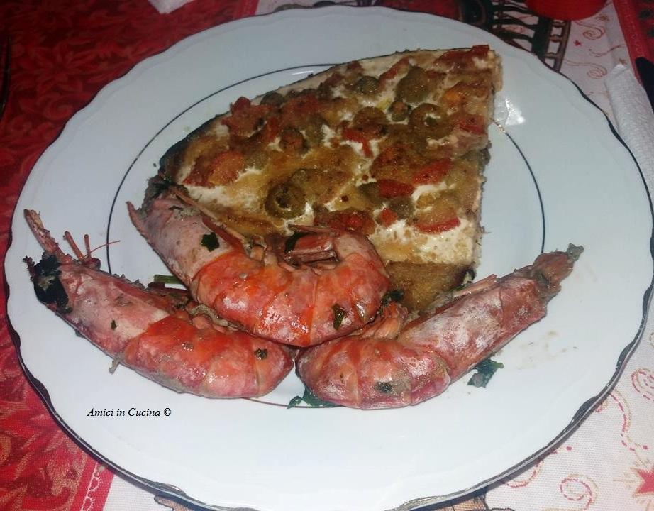 Gamberoni e Pesce Spada alla Trapanese – Anna M.