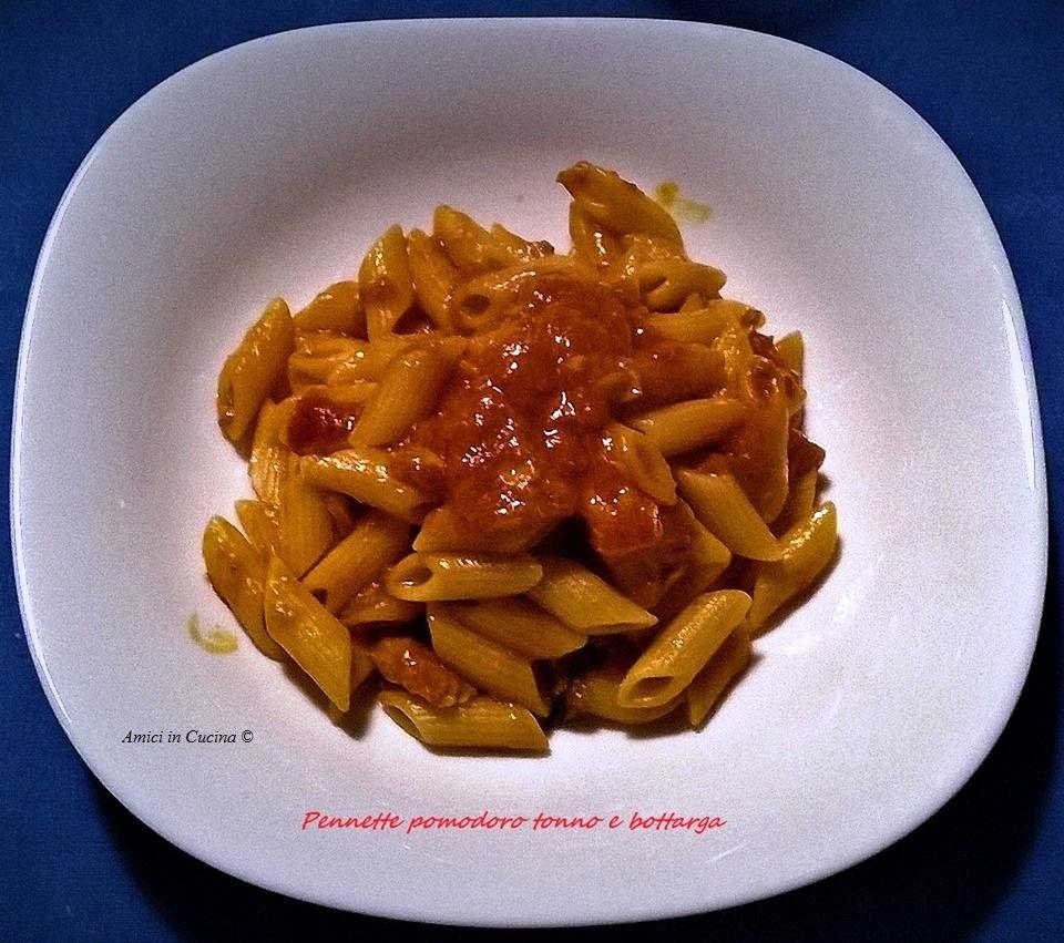 Pennette al pomodoro, tonno e bottarga – Salvatore Gianni B.