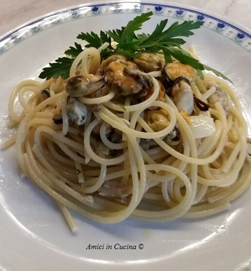 Spaghetti cozze, vongole e tonno -  Marina C.