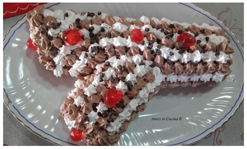 Tronchetto con mousse di cioccolato e panna – Teresa A.