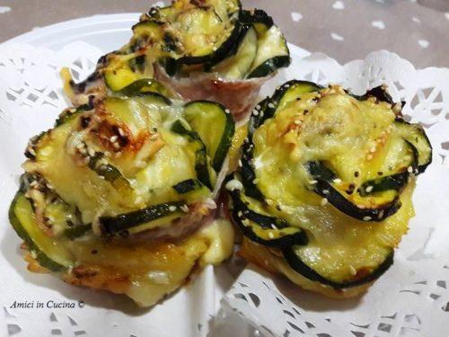 Rose di zucchine – sfiziosi antipasti – Vanessa C.