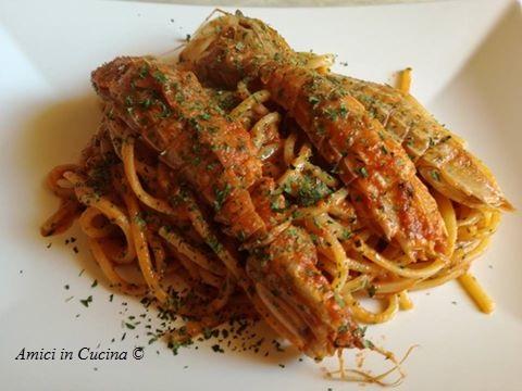 Spaghetti con cicale di mare (cannocchie)  – Ivana R.