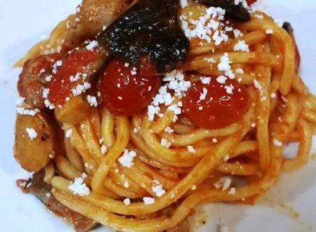 Spaghetto quadrato cardoncelli e salsiccia – Marina C.