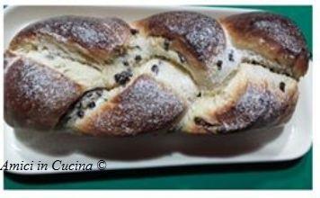 Treccia di pan brioche e gocce di cioccolato – Teresa A.
