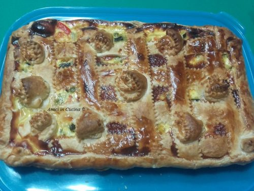 Crostata di verdure (sfoglia e verdure) – Teresa A.