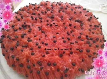 Torta chiffon cake alla nutella ricoperta di crema alle fragole – Rita D.