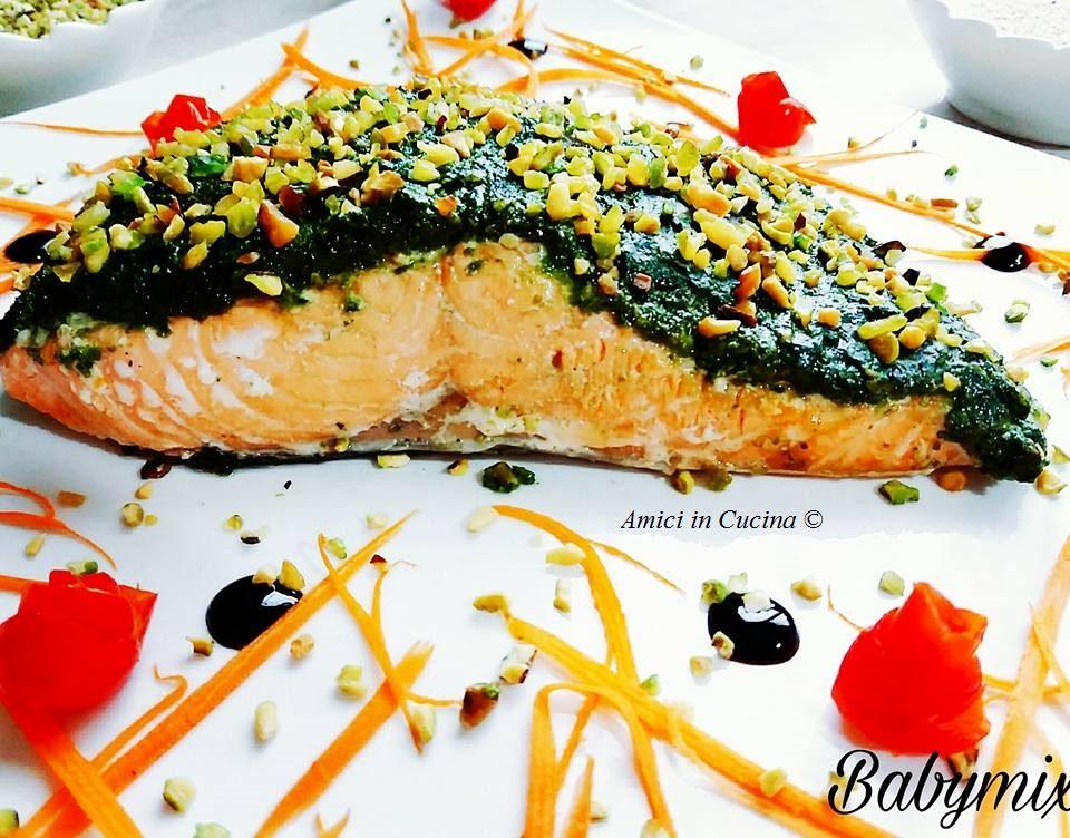 Filetto Di Salmone Con Pesto Di Pistacchi Barbara P Amici In Cucina