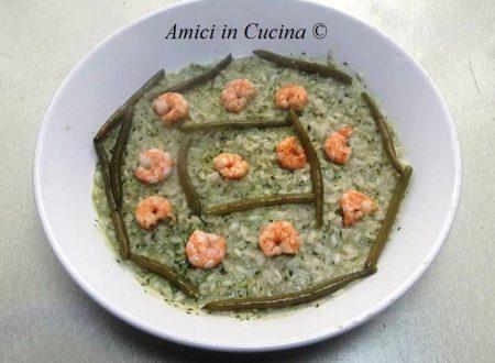 Risotto pesto gamberetti e fagiolini – Isnardo A.