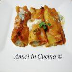 Cannelloni con zucchine e speck al profumo di gorgonzola - Amerigo Morgia