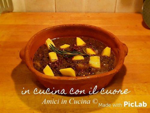 Zuppa di lenticchie nere -Eleonora Fabrizi