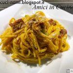 Spaghetti di Kamut con zafferano, salsiccia, zucchine e ricotta - Naomi L.