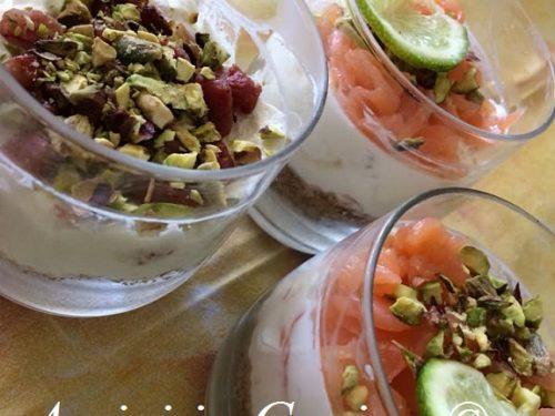 Cheesecake salata con salmone, pistacchi e pepe rosa – Davide Martignoni
