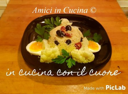 Couscous con cavolfiore pomodori secchi olive ed uova sode – Eleonora Fabrizi