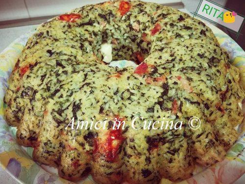 Riso al forno con spinaci speck e mozzarella – Rita Di Somma
