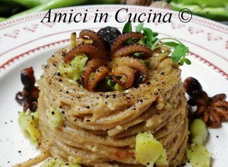 Spaghetti integrali  con fave e moscardini – Amerigo Morgia